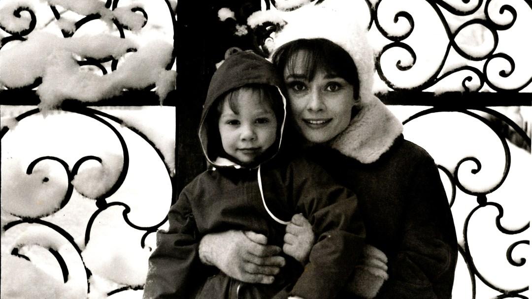 Peudomyxoma Survivor patron, Sean Hepburn Ferrer with his mother, Audrey Hepburn
