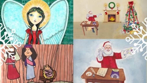 Collage of Pseudomyxoma Survivor's Christmas cards