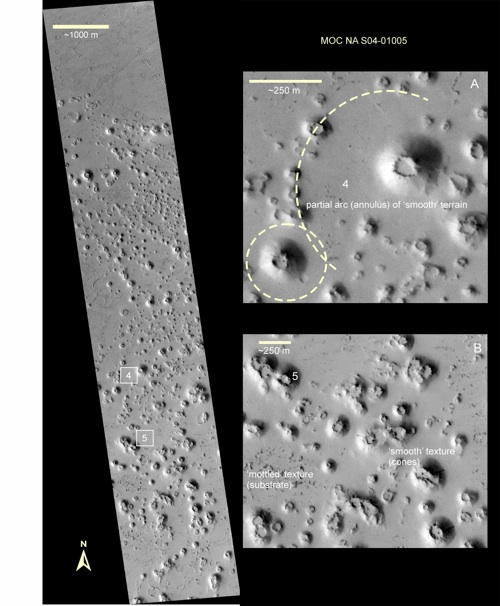 Tartarus Colles region, Mars
