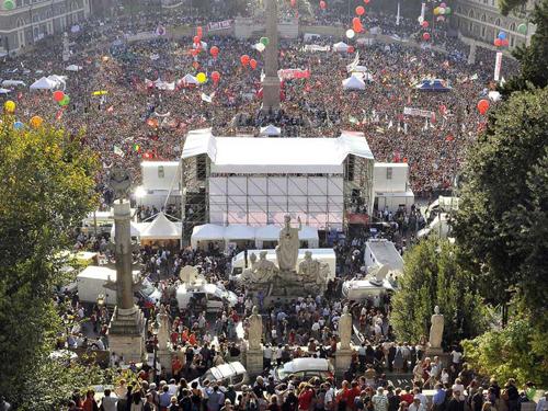 Piazza del Popolo Roma - 3 ottobre 2009 (click x zoom)