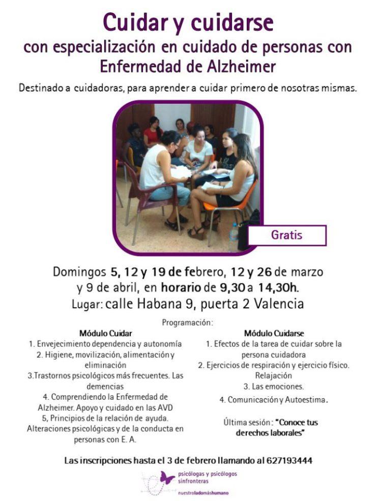 Cuidarse y cuidarse con especialización en cuidado de personas con Enfermedad de Alzheimer