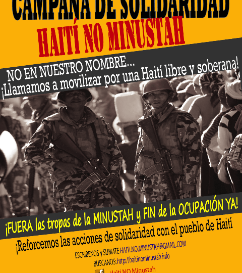 Cartel de la campaña de solidaridad con Haití