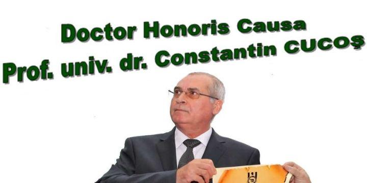 Grant title Doctor Honoris Causa – proffesor Constantin CUCOŞ, PhD