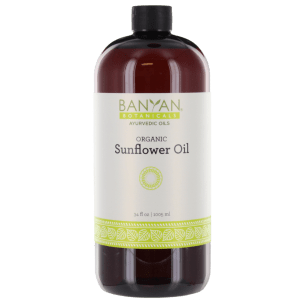Sunflower Oil (Organic) 34 oz - Banyan Botanicals