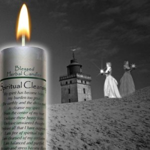 Spiritual Cleansing - Blessed Herbal Candle