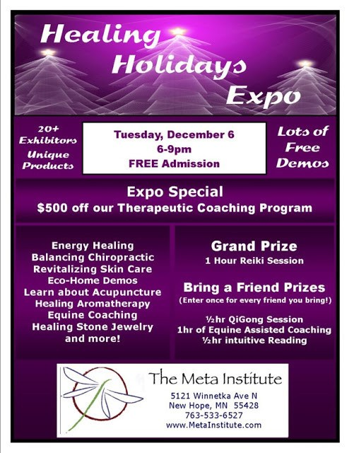 Healing Holidays Expo at The Meta Institute in New Hope 2