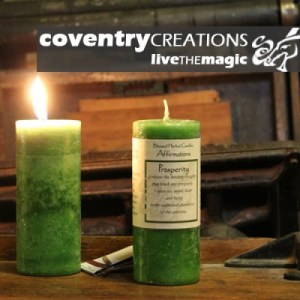 Prosperity - Blessed Herbal Affirmation Candle