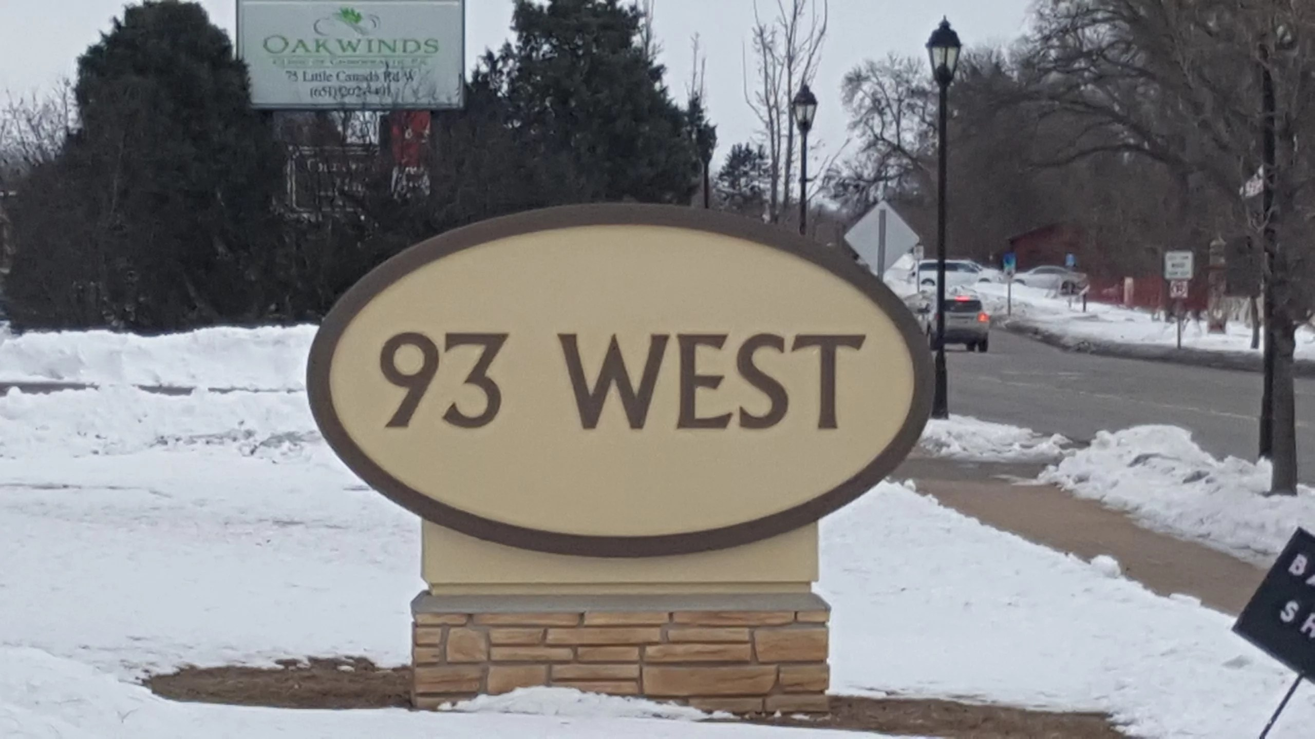 93 West Building sign at 93 Little Canada Rd West, Little Canada, MN 55117