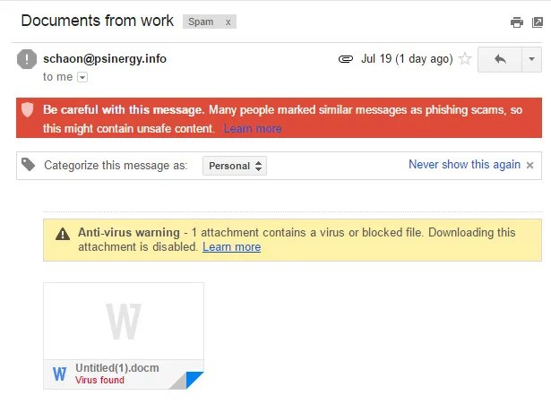 Tricky Viruses in Spoofed Emails are on the Rise! Be Aware