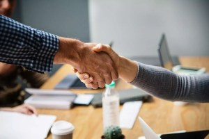 handshake office casual