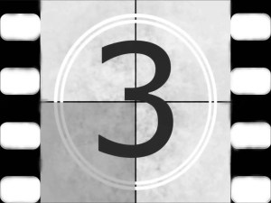 video reel countdown with the number 3