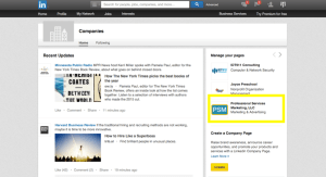 click on company page linkedin