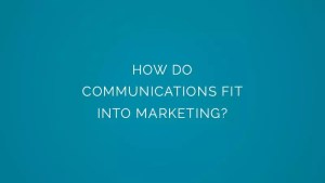 How do communications fit into marketing?