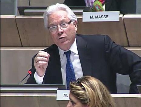 Eugène Caselli intervient sur le projet du pont transbordeur