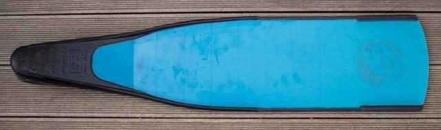 Powerfins fibre blue de dessous