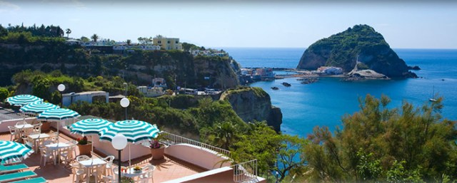 Vue d'un des hôtels d'Ischia