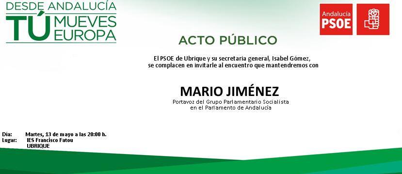 Acto Ubrique Mario Jimenez