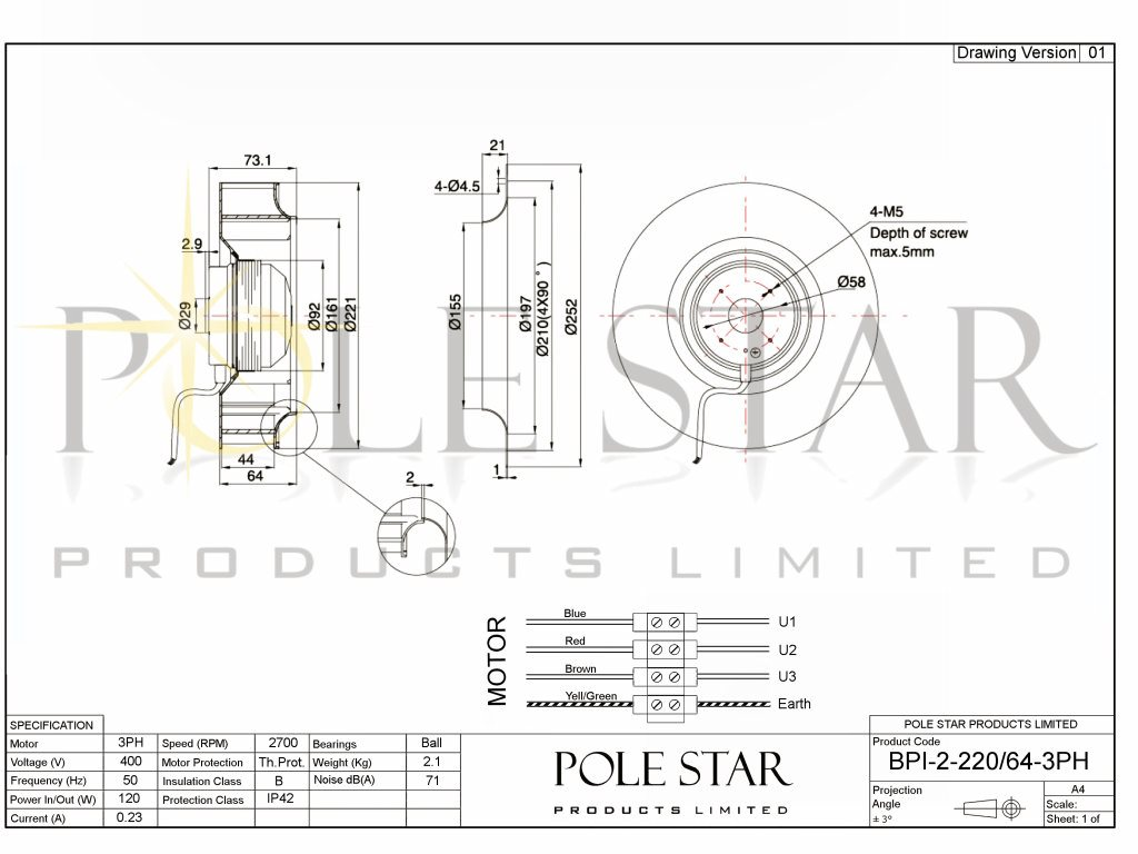 Bpi 2 220 64 3ph Pole Star Products Limited