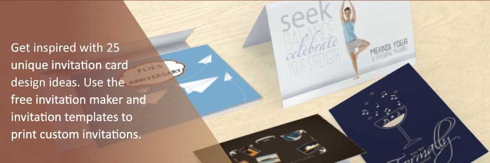 seven unique invitation card design ideas