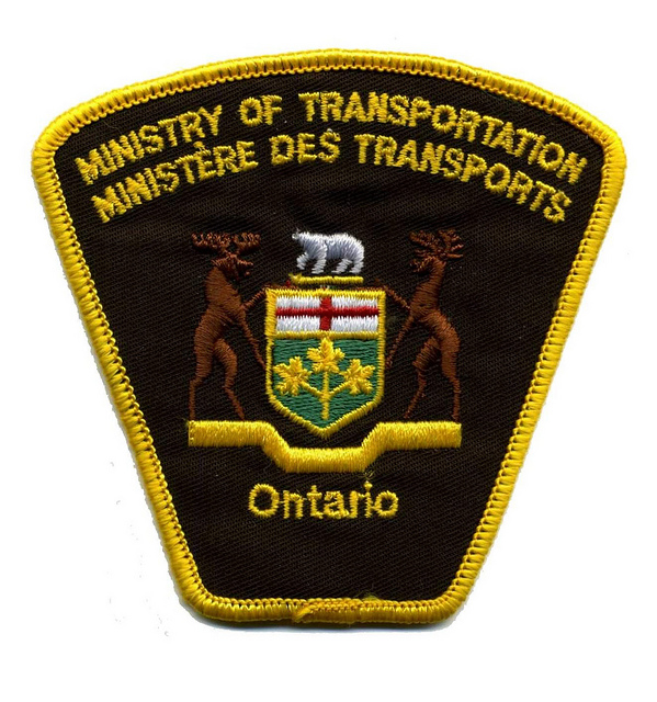 Ministry of transportation badge