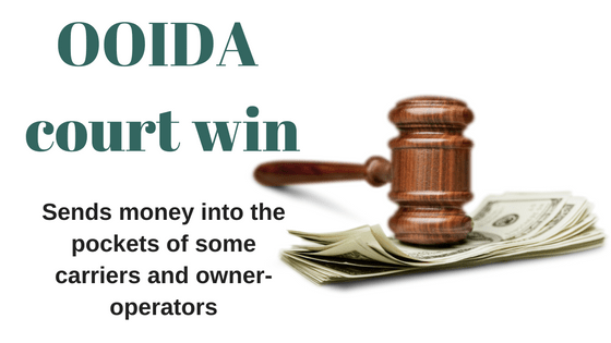 OOIDA court win sends money into truckers pockets