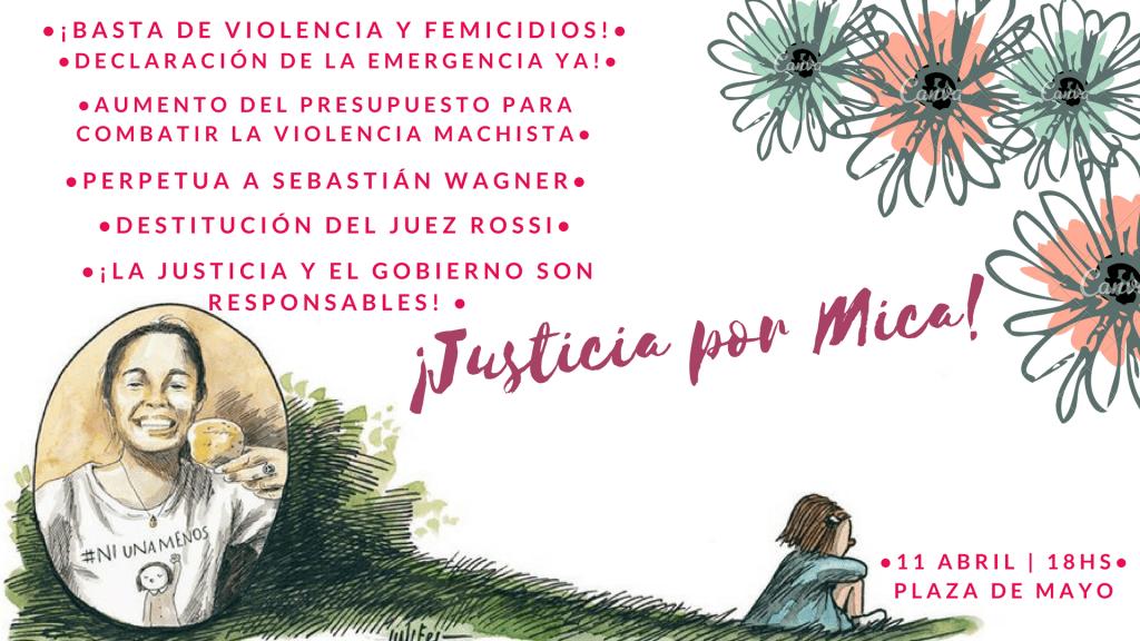 Justicia para Micaela – Basta de femicidios
