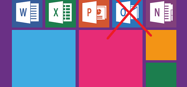 Outlook logo crossed out.