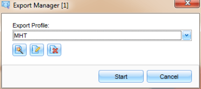 Export MHTML files to PDF files with Pst Viewer Pro