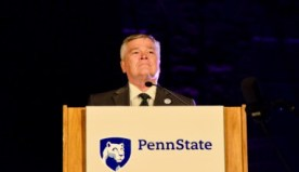 University President Eric Barron urges Penn State community to help foster a safe and open-minded community