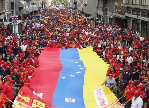 Resultado de imagen para Fotos marcha revolucionaria en venezuela