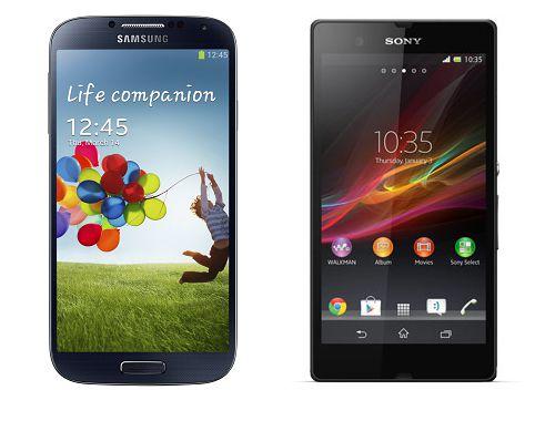 Comparatif entre le Sony Xperia Z et le Samsung Galaxy S4
