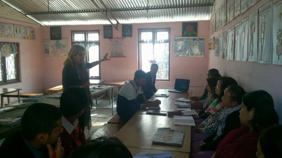 Sansar Nepal Representative, Michele, introducing teacher's workshop and PNN team to the teachers!