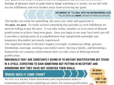 Handout on Instant Gratification