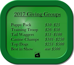 PSDP Giving Group levels