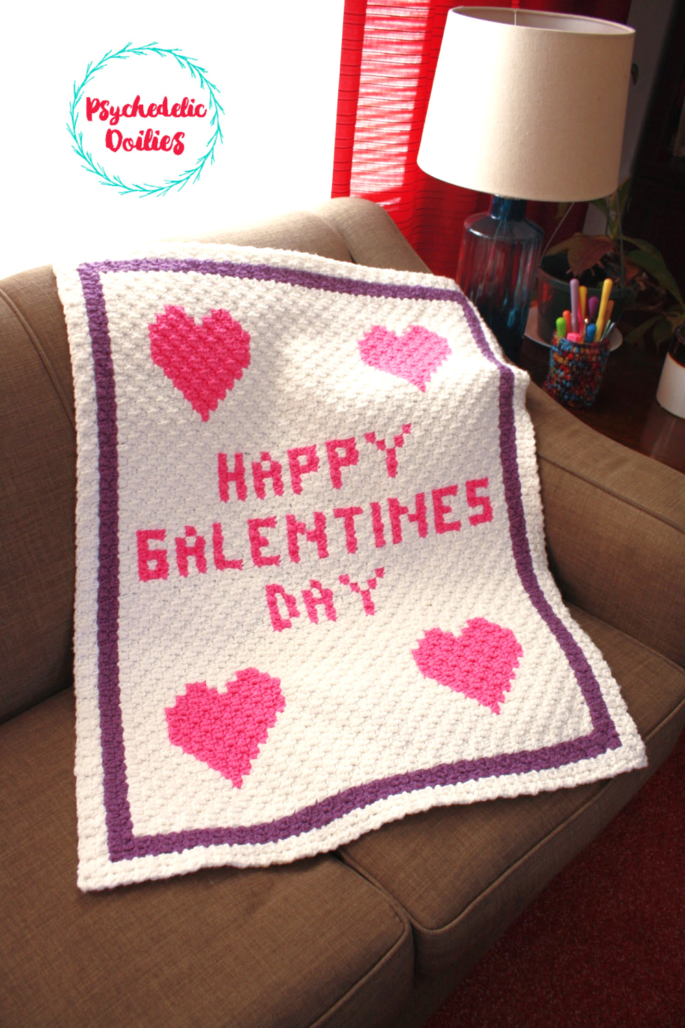 Galentine S Day Lapghan Free C2c Pattern Psychedelic Doilies
