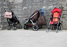 losing baby weight strollers body image