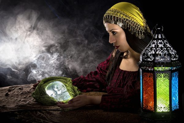 psychic medium with crystal ball