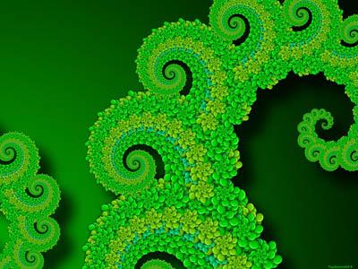 Green Fractal Wall