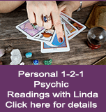 Personal 1-2-1 Psychic Readings with Linda