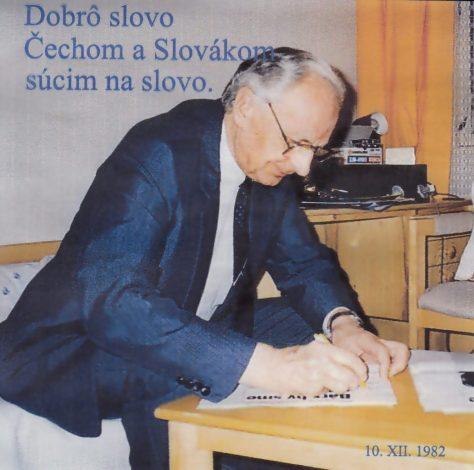 Ladislav CHUDÍK: Dobrô slovo Čechom a Slovákom súcim na slovo.
