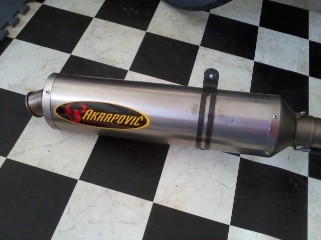 akrapovic evolution full titanium 05 06