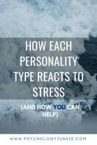 Find out how each #personality type reacts to stress in different ways! #myersbriggs #mbti #INFJ #INFP #ENFP #INTJ #INTP