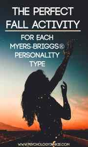 Amazing fall activities for each Myers-Briggs® personality type! #MBTI #INFJ #INTP #INTJ #INFP #ENFP #ENFJ #ISFJ