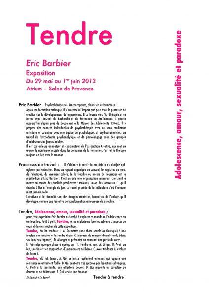 Eric Barbier psychotherapeute Rognes, art therapeute