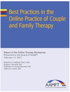 Best practices in the online practice of couple and family therapy - cover