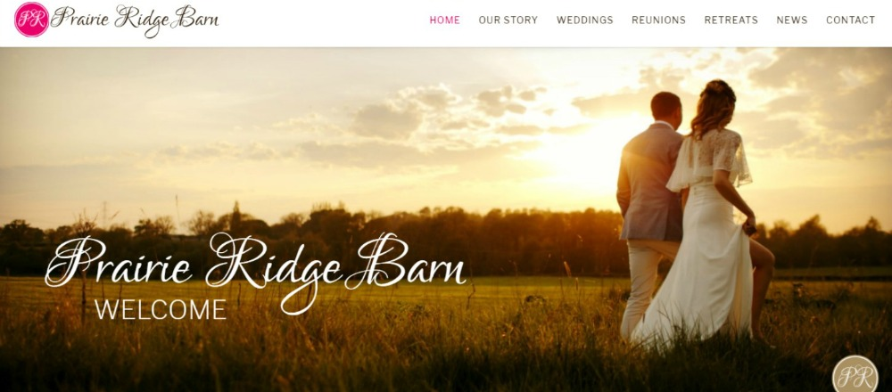 WEDDING BARN WEBSITE, WEBSITE DESIGN SMALL BUSINESS