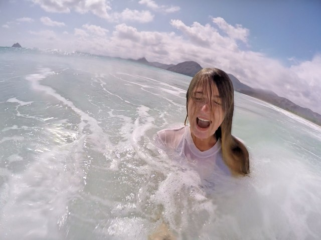 Playing in the waves | Kuta, Lombok