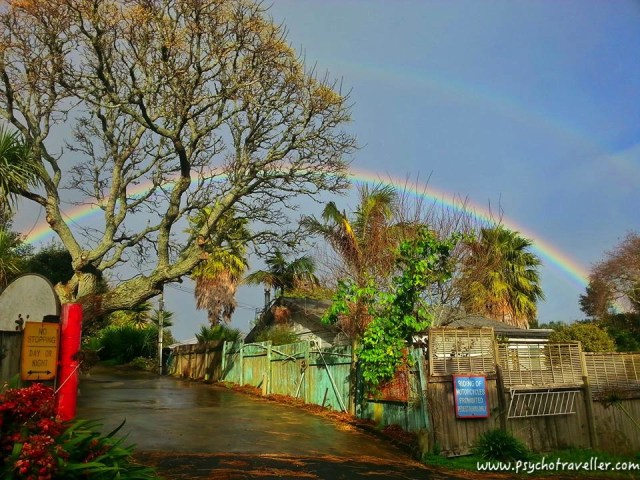 RAINBOW IN MT EDEN new zealand