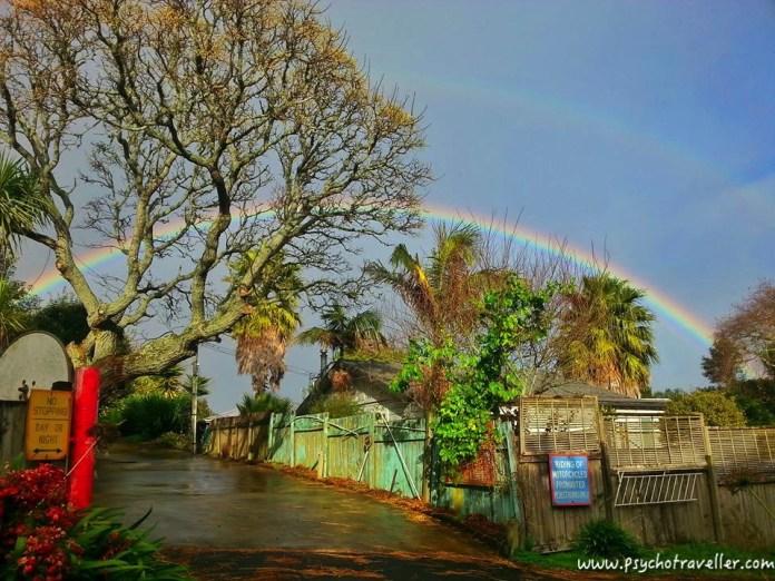 RAINBOW IN MT EDEN new zealand