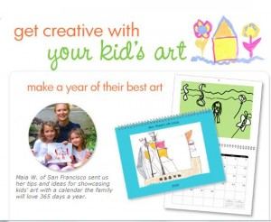 Snapfish children's artwork calendar